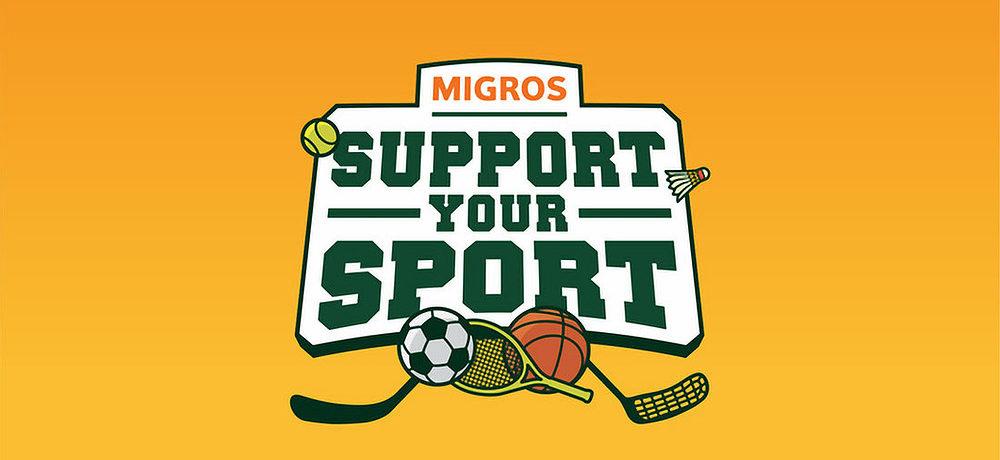 """Ultimi giorni della campagna """"Support your sport"""" di Migros"""